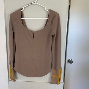 Free People Thermal Long Sleeve Top Small or XS